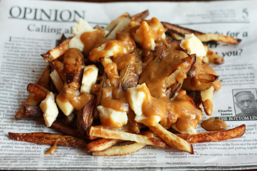 "I'm craving poutine. :'( Time for an impromptu trip to Montréal, I think!? American ""disco fries"" can't even compare."