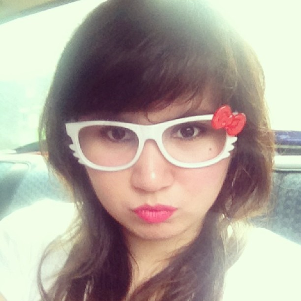 I know im so late with these #hello #kitty #fake #shades haha #fun purchase from #divisoria