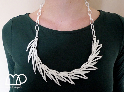 Reeds necklace in white by Marmalade P on Flickr.