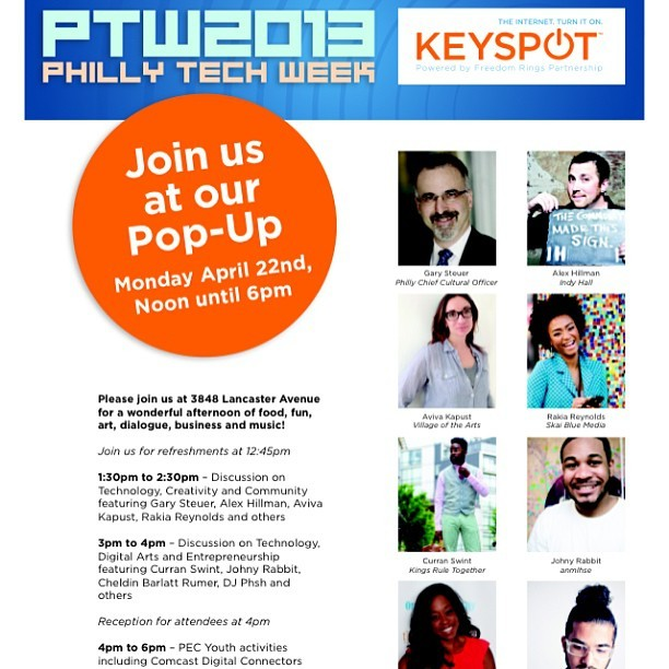 This Monday I'll be moderating a panel for #PhillyTechWeek @PhillyKeyspots at Drexel University at 3848 Lancaster Avenue from 1pm-4pm.  The link to RSVP is in my bio. See y'all there #PhillyKeyspots #techweek #drexel #akingsevent #ptw2013 #events #kingsruletogether #KRT