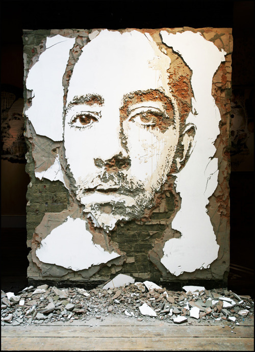 supersonicelectronic:  Vhils. Street art by Vhils: Read More