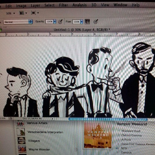 Guess who these guys are… there's a clue in there somewhere #wip