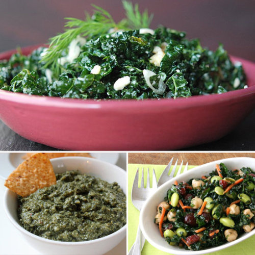 greatbigsackofawesome:  I love Kale!  Click the photo for a link to 14 Kale recipes!