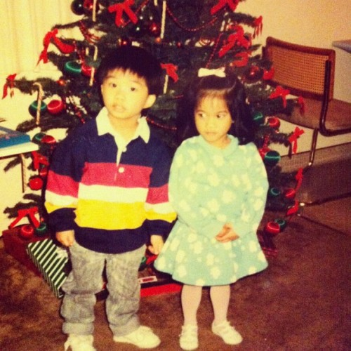 #tbt I think I was 4? I don't know why I look so mad haha. Me and my Kuya. 👦👧