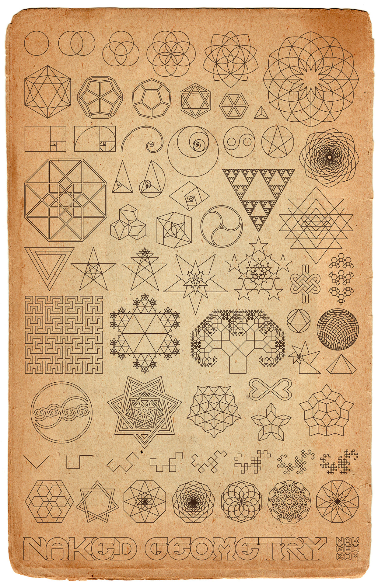 "thatveiledgazelle:  ""Old World Sketchbook"" ∆ Naked Geometry ∆ prints here"