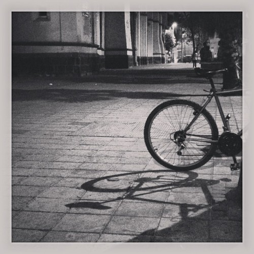#bycicle #shadow #light #street #urban #blackandwhite #mexico #mextagram #instamex #love #instagood #me #tbt #cute #photooftheday #instamood #beautiful #picoftheday #igers #instadaily #iphonesia #follow #tweegram #happy #summer #instagramhub #cartayen #followback  (en Regina 18)