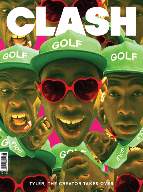 golfwang:  Tyler Designed This Cover For CLASH Magazine, Which Also Has An Awesome Cover Story Inside! All Photos By Brick Stowell. Click Photo To Purchase! Available At Book Stores In The UK, And Will Be In The Us In A Few Weeks! Very Limited.