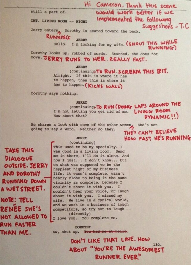 bbook:  See Tom Cruise's Script Suggestions & Read Cameron Crowe's 'The Jerry Maguire Journals'