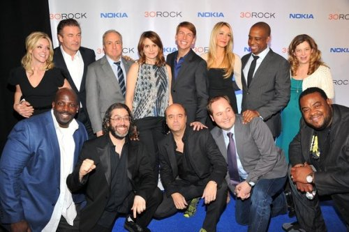 "huffposttv:  ""30 ROCK"" CAST LIES ABOUT THE FINALE I went to the ""30 Rock"" wrap party last night and asked the cast to play a game with me. We modified ""two truths and a lie"" to ""two lies and a truth"" in regard to the series finale. '""That's a fun game. Let me think about it,"" Tina Fey said. ""I'm wasting your tape. Tracy goes to space on Richard Branson's space module. Grizz gets a spinoff and someone dies."" Death? Boats? Babies? See what they lied (or maybe told the truth) about here!"