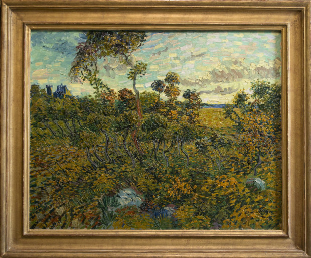 "New Van Gogh painting discovered, had been sold because owner thought it was fake The first full-size Vincent Van Gogh painting to be discovered in 85 years has been authenticated as a genuine long-lost work of the Dutch master after an odyssey that included lingering for six decades in the attic of a Norwegian industrialist who had been told it was a fake.  ""Sunset at Montmajour"" depicts a dry landscape of twisting oak trees, bushes and sky, and it was done during the period when Van Gogh was increasingly adopting the thick brush strokes that became typical of his work in the final years of his short life, experts at the Van Gogh Museum in Amsterdam said Monday.  It can be dated to the exact day it was painted because Vincent described it in a letter to his brother, Theo, and said he had painted it the previous day – July 4, 1888.  ""At sunset I was on a stony heath where very small, twisted oaks grow, in the background a ruin on the hill and wheat fields in the valley,"" Van Gogh wrote. (AP Photo/Peter Dejong)"