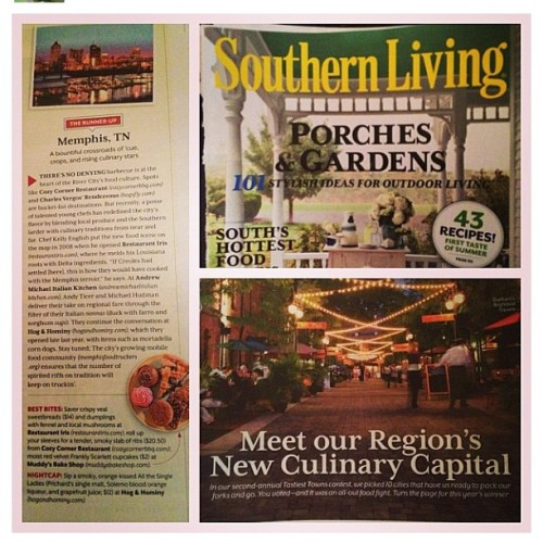 I have to pick up Southern Living!! Memphis named the new culinary capital. #foodie #foodfind #ilovememphis #reppin #repost @muddysbakeshop