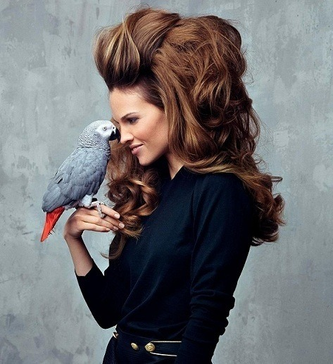 Cool shot of Hillary Swank - the #hair is amazing! #SouthernComfort