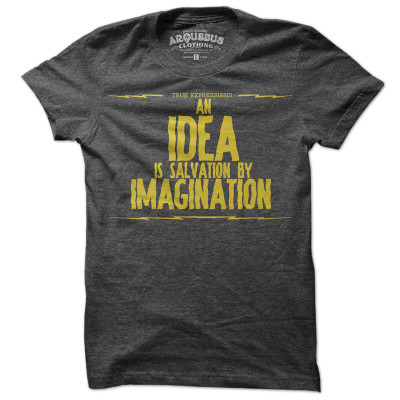 Idea Salvation Tee Men's Gray, 19% off now featured on Fab.Fab.comYour spunky brother Louis is always there with a quick quip or insightful adage—whether you've broken Dad's favorite humidor, or some poor soul's heart (whoops). This quirky, fetching tee from Arquebus, pairs old-world graphics with brave new world messages. So you can make his affinity for being totally quotable an essential part of his everyday wardrobe. Tee or tee not, there is no try.