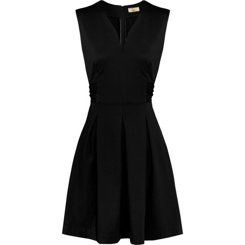 Issa Pleated jersey dress   ❤ liked on Polyvore (see more pleated cocktail dresses)