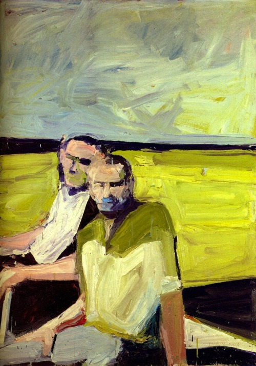 loverofbeauty:  Paul Wonner - Untitled (Two Men at the Shore), 1960 (Source: stephiapw)