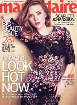 Scarlett Johansson in Dolce&Gabbana covers Marie Claire, May 2013