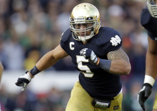 Manti Te'o is either very gullible or mildly sociopathic…OR, a third possibility, he's another closeted gay athlete. HERE ARE THE OPTIONS. An excerpt: There is no evidence to support this. Let me be clear like Obama: I am not calling Manti Te'o a closeted homosexual. But think about the reasons you make up a fake girlfriend, then think about which makes more sense: Boredom, Heisman publicity, or throwing people off the scent of a gay man doing the one thing openly gay men still have never done to this day? A devout Mormon at a Catholic school, a rugged football player — these are communities that openly reject homosexuality, some of the last remaining vestiges of the decaying closet. There has never been an openly gay athlete in a major American sport, and who knows when that day will come. For now, athletes are pretty freakin' scared to be the first, even though there could be big endorsement dollars in it for them. Wild speculation, perhaps, but maybe Te'o is just another in a long line of players who would rather live the straight life and not take the risk than declare his true self to the sports world.