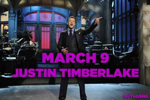 nbcsnl:  So excited to have our good friend Justin Timberlake back in 8H on March 9! He'll pull double duty as both host and musical guest.