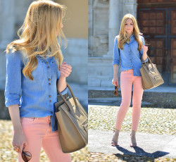 lookbookdotnu:  Pastel jeans (by Henar Vicente)