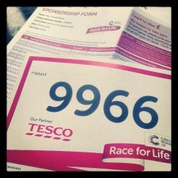 My race for life pack came through! :)