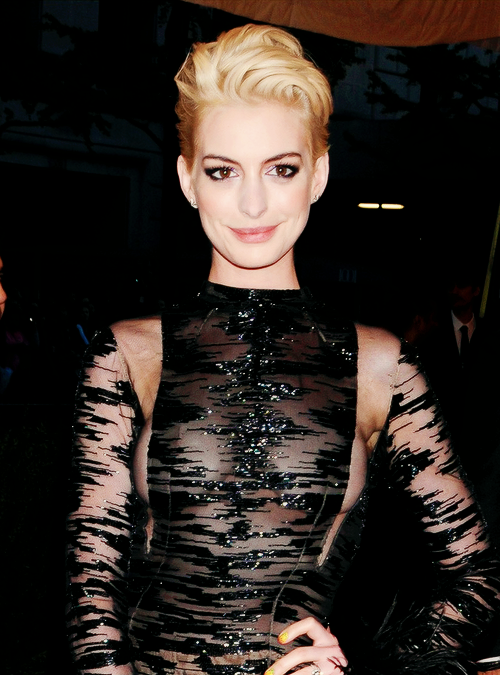 gayblowjob:   Anne Hathaway at Met Ball 2013!  OH MY GOD
