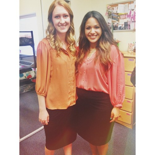 Totally matched this awesome girl today! 😁👍 @madelinejay #twins