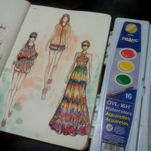 #festival #nofilter #colorful #drawing #instaartist  #artporn #sketchbook #sketch #prang #watercolor #fashion #fashionaddict #fashionista #fashiondrawing #fashionillustration #fashiondesign #fashionary #outfit #style #beautiful #girl