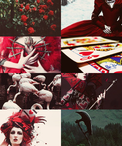 mortisia:   viα thoughtsintospace: QUEEN OF HEARTS | fairy tale series      Excuse me but I think you're crazyNot like crazy 'ha-ha'I mean,Crazy, crazy, insane