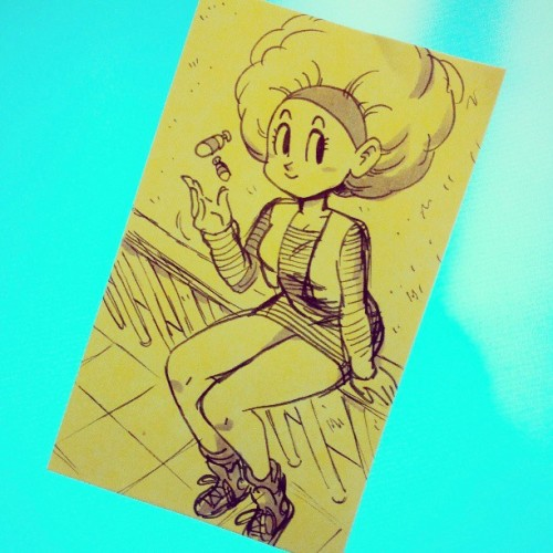 afro bulma post-it