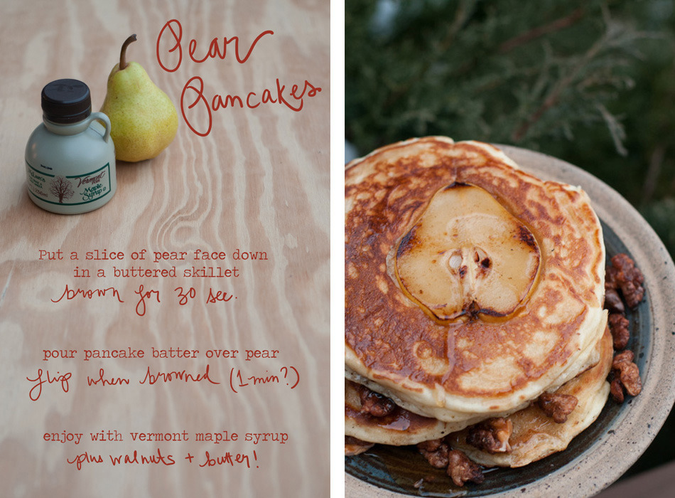 Pear Pancakes Recipe