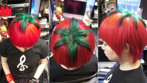 rookiemag:  filthyphil:  Tomato hair style    This is utterly amazing. -Danielle