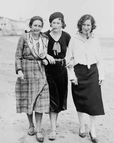 fuckyouverymuch:  We love this trio; Rosa Luxemburg, Simone de Beauvoir and Emma Goldman.    3 for 3; bad girls in unflattering clothing on the beach