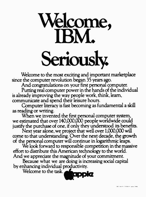 "soxiam:  1981. When you could expect to find ""social capital"" in an Apple ad."