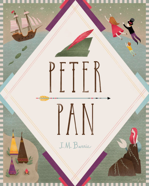 whatannaloves: (via Peter Pan Book Cover on Behance)