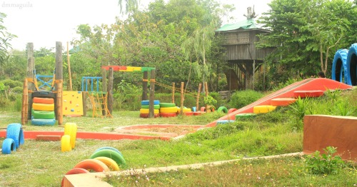 Enchanted Farm's playground (made from used wheels and drums) Angat, Bulacan