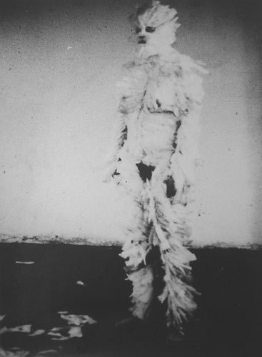 saintstigersloversart:  Ana Mendieta  1972 'Bird Transformation'