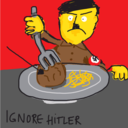 This is a picture of IGNORE HITLER.