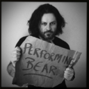 This is a picture of Declan de Barra - Performing Bear