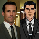 This is a picture of Sterling Archer Draper Pryce