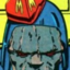 Darkseid chilling on a couch