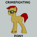 This is a picture of CRIME FIGHTING PONY!