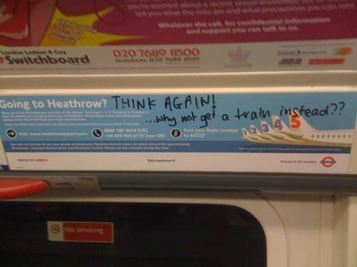 Heathrow Tube Ad by Utku Can