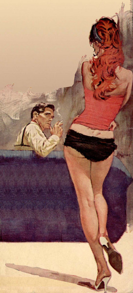 honey-rider:  pulp art by:  Ron Lesser
