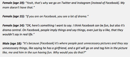 "newsweek:  Teens tells adults how Facebook is ""drama central."" [via pew pdf]"