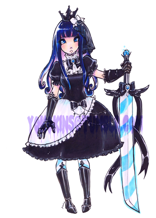 Stocking Knight Redesign I did. Art by me.Saw a cute Knight stocking yesterday, and really really want to cosplay it now. Sadly the art wasn't sourced so I can't credit the idea to that person. ;;;;;;;;; *edit* I FOUND A PIVIX. http://www.pixiv.net/member_illust.php?mode=medium&illust_id=14707125