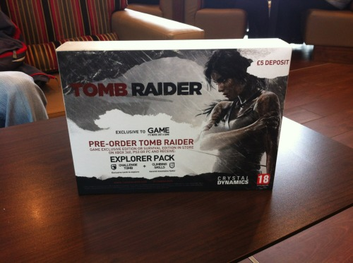 GAME Store pre-order display box  ~TRK's Tomb Raider Collection~
