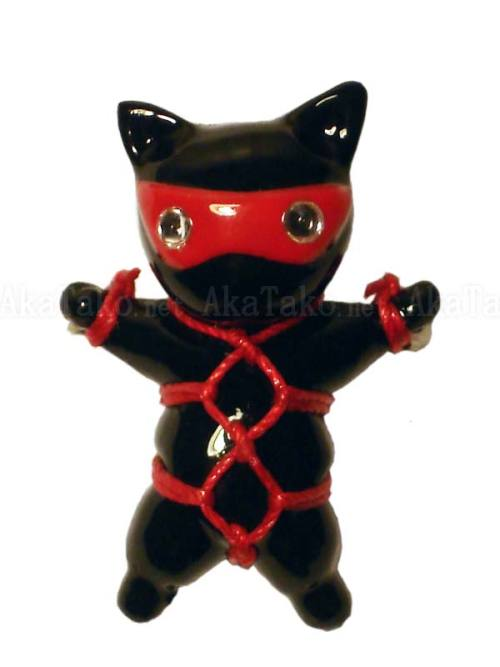 Black Cat Kinbaku Pin by Kitanya Design Factory