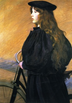 fleurdulys:  Young Bicyclist - Lilla Cabot Perry ~1895