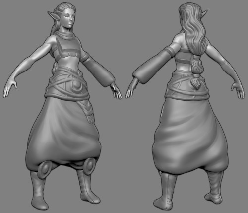 A little more progress, getting close to finishing the sculpt.