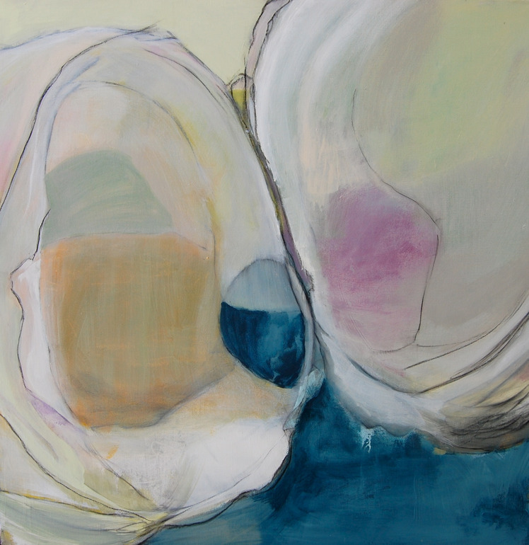 darksilenceinsuburbia:  Mary Elizabeth Peterson. Quahog. Acrylic on canvas.